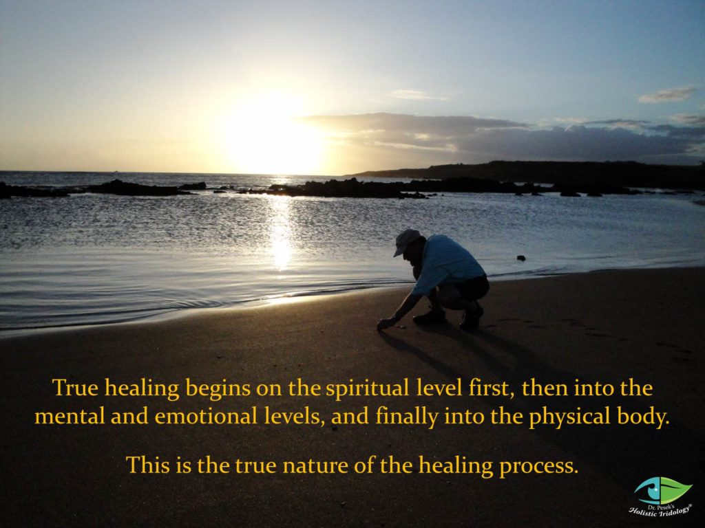 All healing occurs...Dr. David J. Pesek, Holistic Iridology