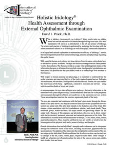 Holistic Iridology® Health Assessment through External Ophthalmic Examination